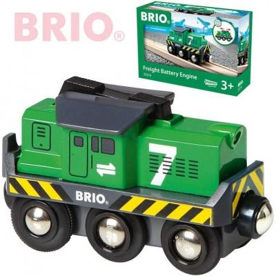 BRIO Lokomotiva elektrická zelená na baterie k vláčkodráze 33214 Světlo