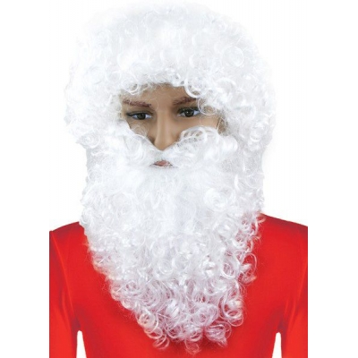 KARNEVAL Paruka s vousy Santa Claus pro dospělé KARNEVALOVÝ DOPLNĚK