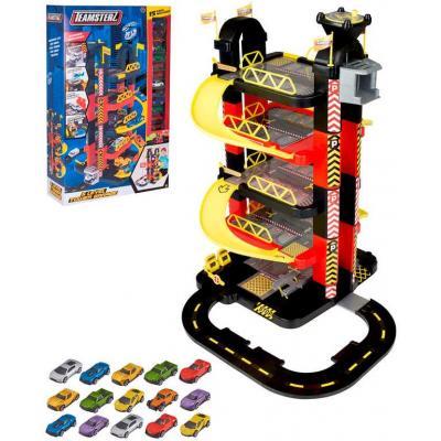 Teamsterz garáž 5 pater velký herní set s výtahem a autíčky plast