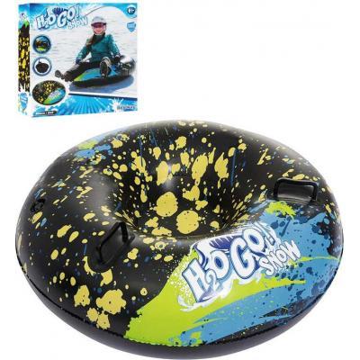 BESTWAY Kruh nafukovací 99cm kluzák na sjezdovku 2 madla s potiskem na sníh