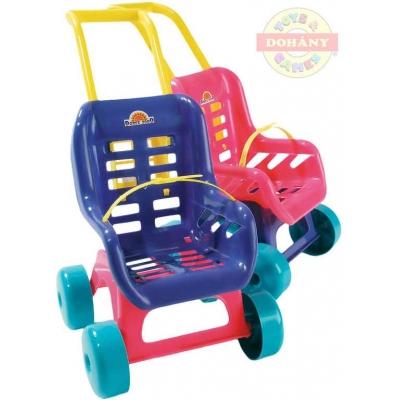 MAD Kočárek sportovní buggy s pásem pro panenku miminko 2 barvy plast