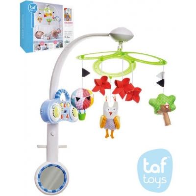 TAF TOYS Baby kolotoč sova s MP3 přehrávačem USB na baterie pro miminko