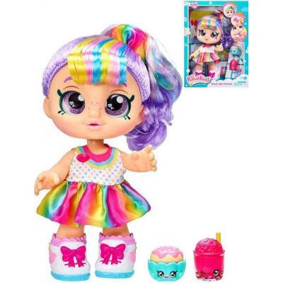 KINDI KIDS Panenka Rainbow Kate 30cm velké oči interaktivní herní set s doplňky