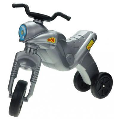 MAD Odrážedlo ENDURO Maxi dětské odstrkovadlo stříbrná motorka do 25kg