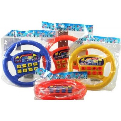 Barevný volant se zvukem 4 barvy 18,5cm plast v sáčku