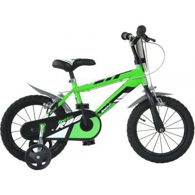 """ACRA Dětské kolo Dino Bikes zelené chlapecké 16"""" balanční kolečka"""