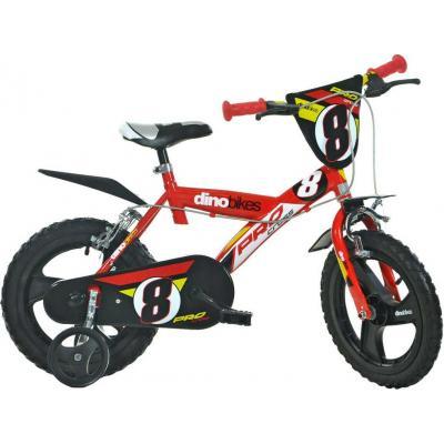 """ACRA Dětské kolo Dino Bikes 143GLN červené chlapecké 14"""" balanční kolečka"""