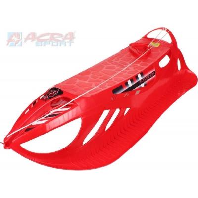 ACRA Sáňky (sáně) plastové FIRECOM pro 2 osoby červené A2047