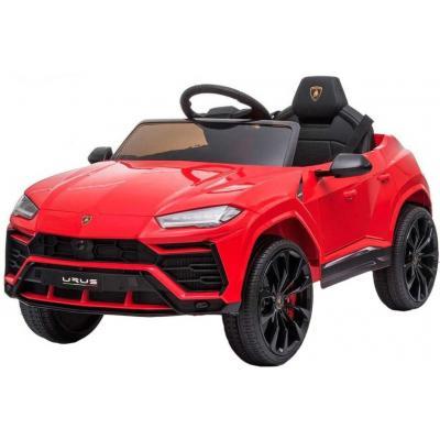 RC Auto Lamborghini červené SUV 12V na vysílačku mp3 dětské ELEKTRICKÉ VOZIDLO