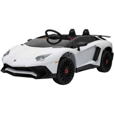 RC Auto Lamborghini bílé sport 12V na vysílačku mp3 dětské ELEKTRICKÉ VOZIDLO