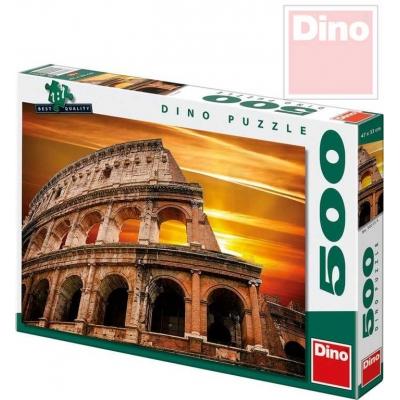 DINO Puzzle Západ slunce nad Koloseem 47x33cm 500 dílků v krabici