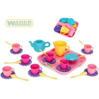 WADER Dětská sada nádobí set 2 kuchyňský párty tác s doplňky 30ks 22040 PLAST