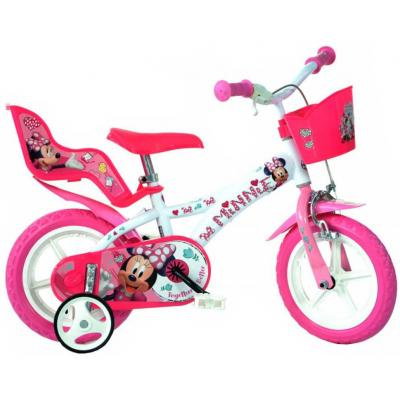 """ACRA Dětské baby kolo Dino Bikes Disney Minnie dívčí 12"""" balanční kolečka"""