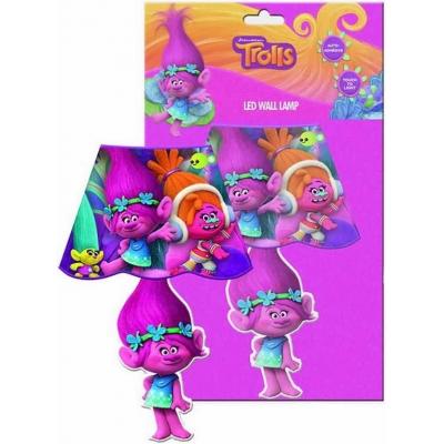 Lampička noční dětská na stěnu Trolls 2 (Trollové) LED nástěnná