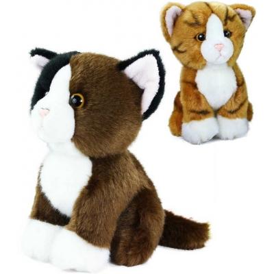 PLYŠ Kočka sedící 18cm exkluzivní kolekce 2 barvy *PLYŠOVÉ HRAČKY*