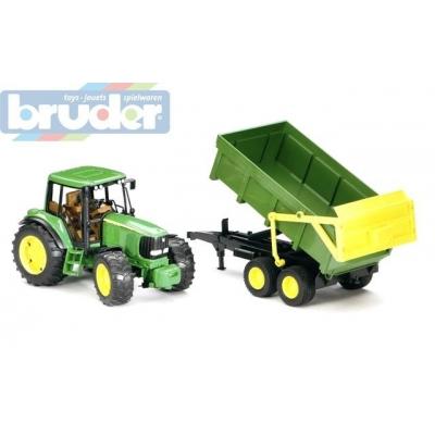 BRUDER 02058 (2058) Traktor JOHN DEERE + sklápěcí valník