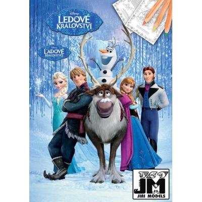 JIRI MODELS Omalovánky A4 Ledové Království (Frozen)