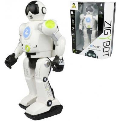 Robot Zigy interaktivní 33cm na dálkové ovládání hlasem 17 příkazů USB zpívá vypráví