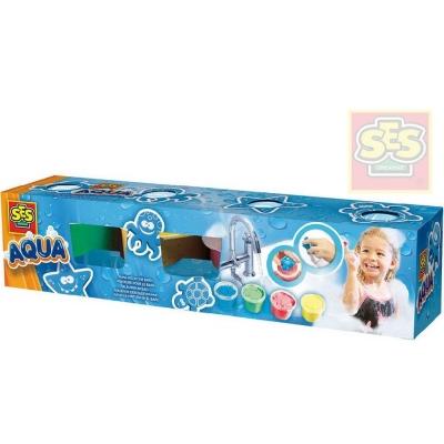 SES CREATIVE barvy vonící dětské prstové do vany set se soft razítky zvířátka