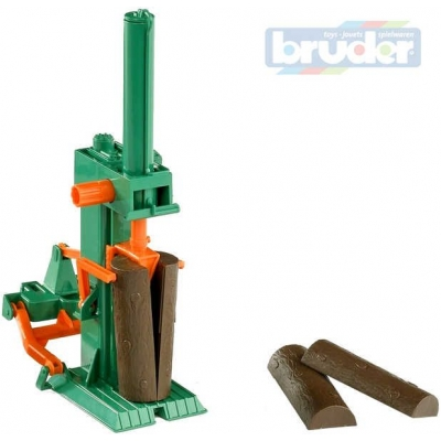 BRUDER 02339 (2339) Štípačka dřeva za traktor + Špalky 4 ks