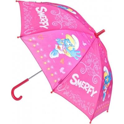 STARPAK Deštník dětský 62cm Šmoulové mechanický růžový