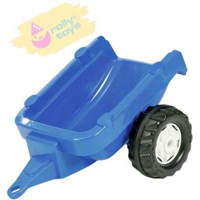 ROLLY TOYS Vlečka za traktor 1osá modrý přívěs