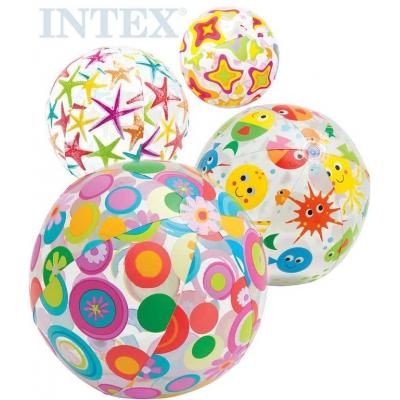 INTEX Míč dětský nafukovací 61cm s potiskem 4 druhy 59050