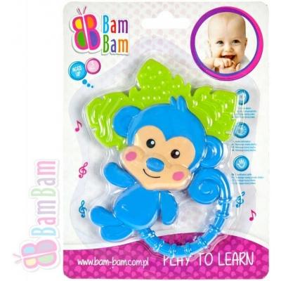 BAM BAM Chrastítko plastové kousátko OPIČKA pro miminko