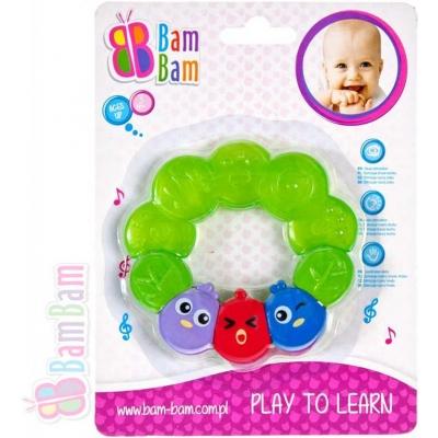 BAM BAM Kousátko plastové 11cm PTÁČCI pro miminko