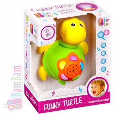 ET BAM BAM Želva dětský baby projektor s ukolébavkou hvězdná obloha Zvuk