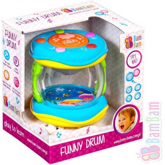 ET BAM BAM Bubínek zábavný s ukolébavkou a zvuky pro miminko Světlo