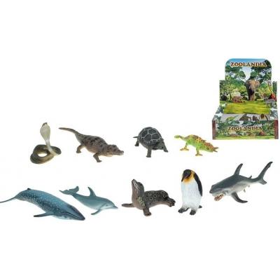 Zvířátko plastové ryby / plazi 6-17,5cm 9 druhů